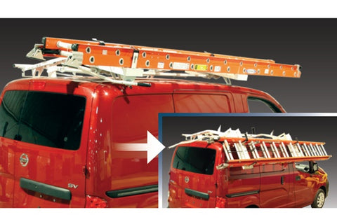 Double Slide-Down Ladder Rack Chevy City Express Van 15-19 - Van Accessories Direct