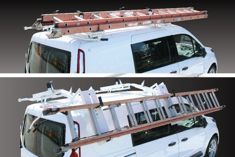 Double Slide-Down Ladder Rack Ford Transit Connect Van 14-19 - Van Accessories Direct