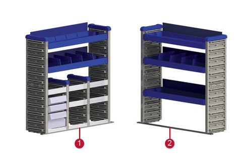 Smart Space Shelving Package Ford Transit Connect Van 14-19 - Van Accessories Direct