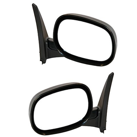 Replacement Manual Side Mirrors Dodge Ram Van 98-03 - Van Accessories Direct