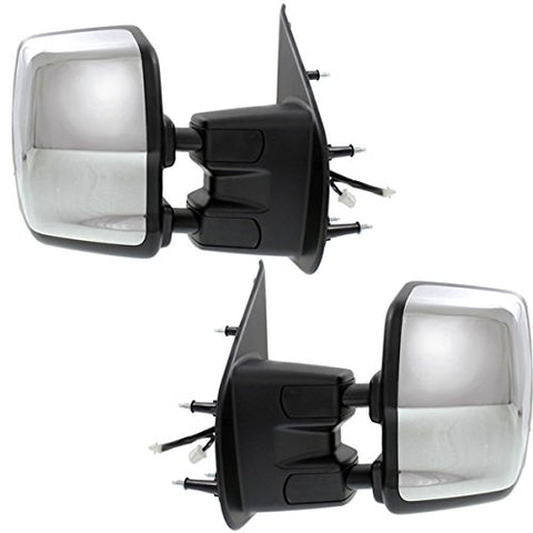 Replacement Chrome Tow Mirrors Nissan NV Full Size Van 12-18 - Van Accessories Direct
