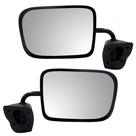 Replacement Manual Side Mirrors Dodge Ram Van 94-97 - Van Accessories Direct