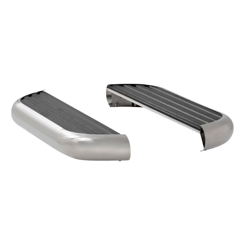Stainless Mega Runningboards Nissan NV Full Size Van 12-19 - Van Accessories Direct