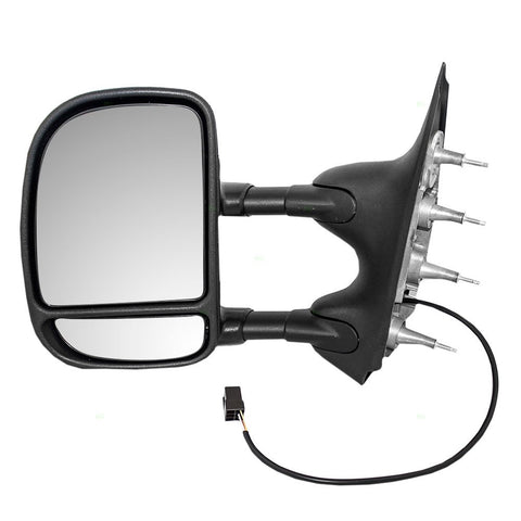 Replacement Electric Power Telescopic Side Mirrors Ford Econoline Van 02-08 - Van Accessories Direct