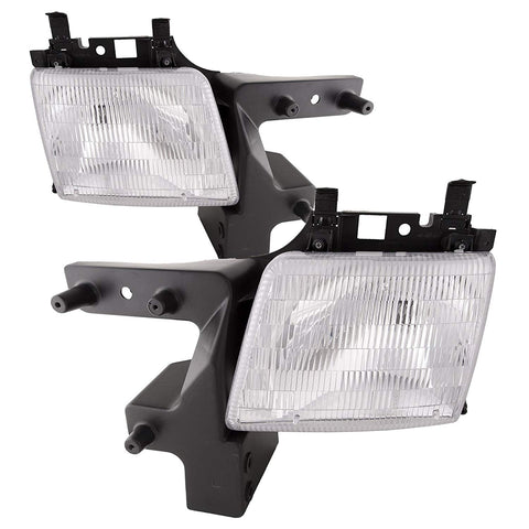 Factory Replacement Headlights Dodge Ram Van 98-03 - Van Accessories Direct