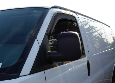 WeatherTech Side Window Visors Ford Econline Van 92-13 - Van Accessories Direct