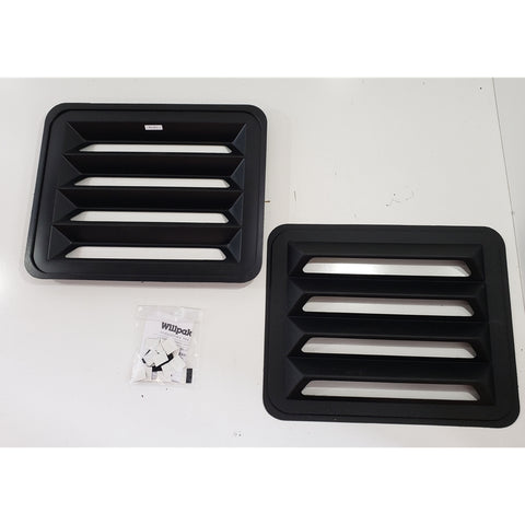 Rear Window Louvers Chevrolet, GMC G-Series Van 70-96 - Van Accessories Direct