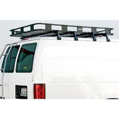 Safari Roof Rack Basket Cargo Carrier Ford Econoline Van 92-17 - Van Accessories Direct