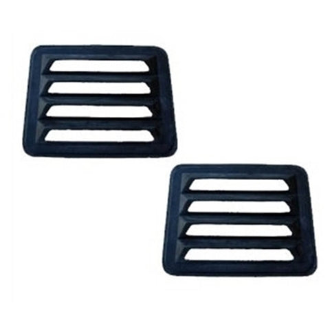 Fiberglass Rear Window Van Louver Chevy , GMC G-Series Van - Van Accessories Direct