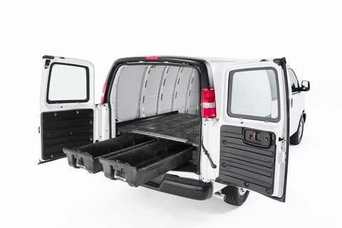 "Cargo Drawers Deck System Ford Econoline Van 138""WB 92-14 - Van Accessories Direct"