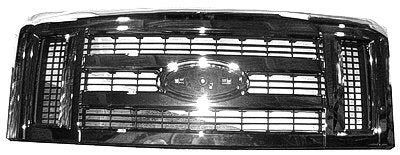 Factory Replacement Chrome Front Grille Ford Econoline Van 08-18 - Van Accessories Direct