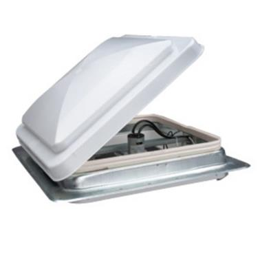 Van White Roof Vent w/ Built in 12v Fan - Van Accessories Direct
