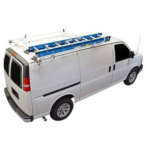Clamp & Lock Van Ladder Rack Chevy Express, GMC Savana Van - Van Accessories Direct