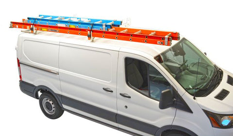 Crossbar Rack with Retractable Ratchet Straps Ford Transit Connect 14-19 - Van Accessories Direct
