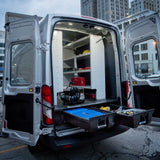 "Cargo Drawers Deck System Ford Econoline Van Extended 138""WB 92-14 - Van Accessories Direct"