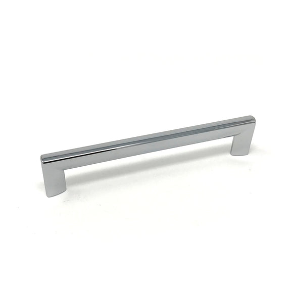 160mm Polished Chrome Square D Handle