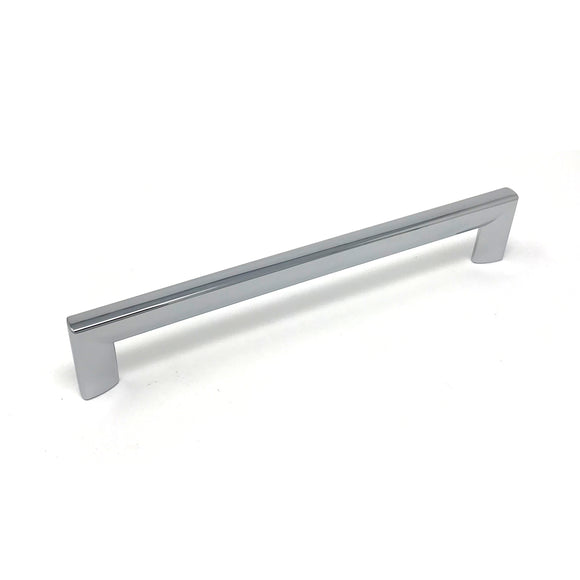 192mm Polished Chrome Square D Handle
