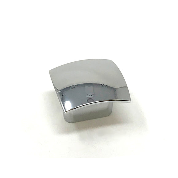 32mm Polished Chrome Square Knob