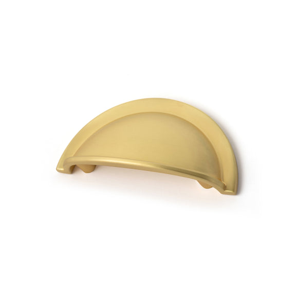 64mm Brushed Brass Cup Handle