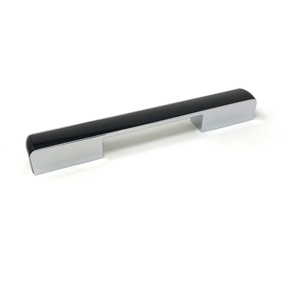 160/224mm Black/Polished Chrome D Handle