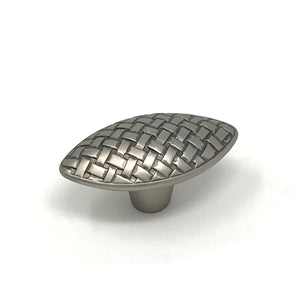 Pewter Oval Knob