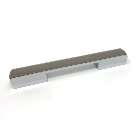 160/192/224mm Grey Gloss/Polished Chrome D Handle