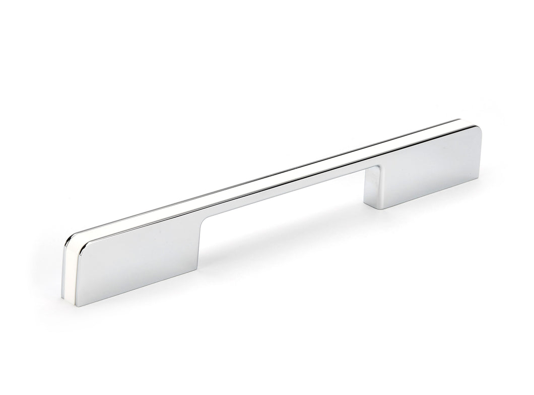 160mm White/Polished Chrome D Handle