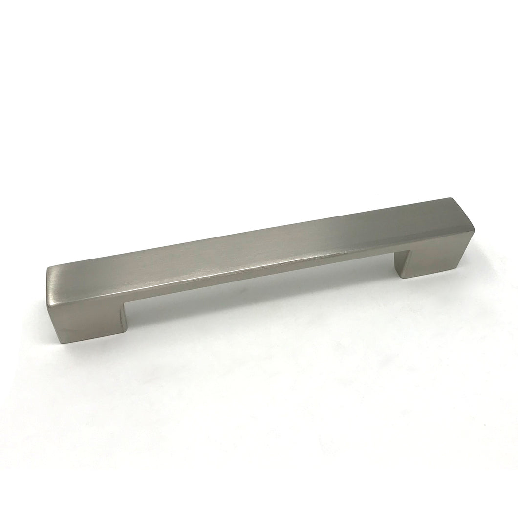 160mm Brushed Nickel Square D Handle