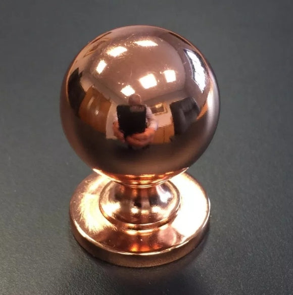 Rose Gold/Bright Copper Kitchen Ball Knob
