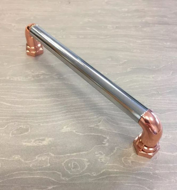 Steampunk Copper Chrome 160mm Handle