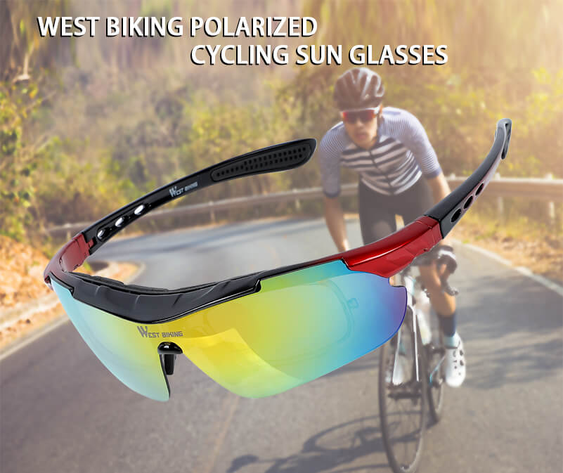 Polarized Sports Sunglasses for Cycling Climbing Fishing Skiing Xmas Gift