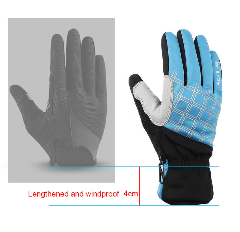 long wrist cycling gloves