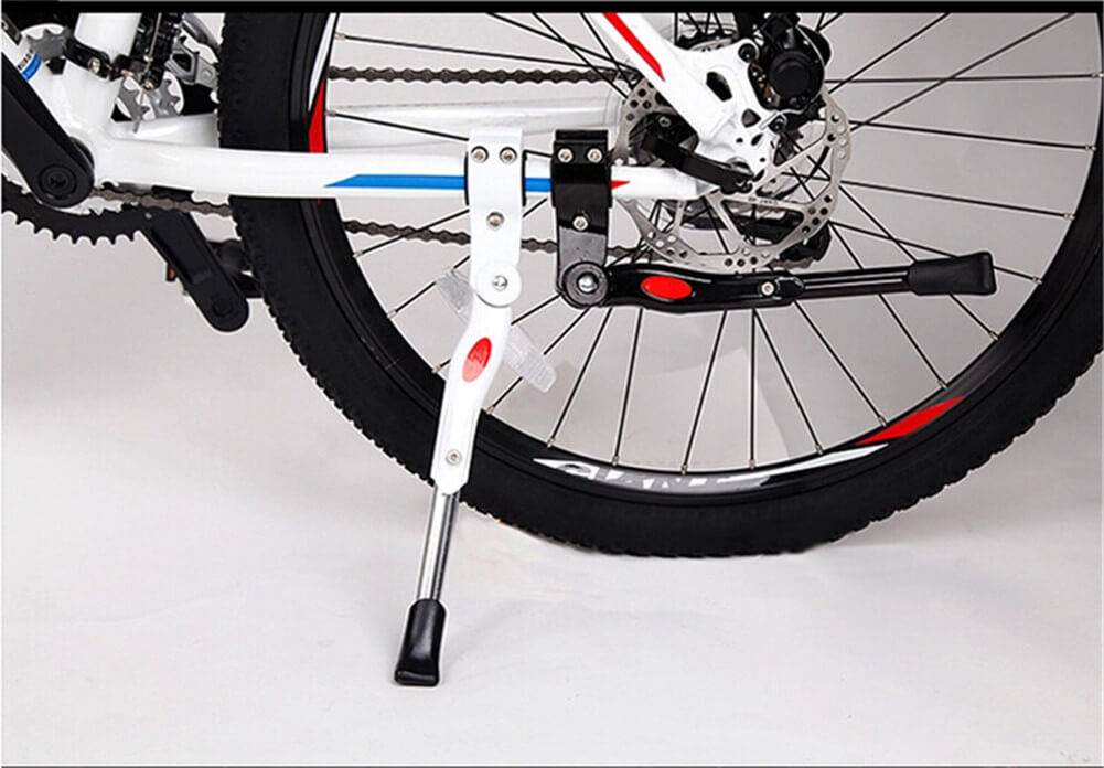 "Bike Kickstand Adjustable Bicycle Kickstand - Bike Stand for 22""-26"" Road Bike/Mountain Bike - Aluminum Alloy Bike kick stand - Bicycle Accessories - Indoor Bike Storage   Bike Kickstand Adjustable Aluminium Alloy Bicycle Kickstand Bike Side Kickstand Fit for 22"" 24"" 26"" 28"" Mountain Bike/700 Road Bike/BMX/MTB   Bike Kickstand-Aluminum Alloy Adjustable Bicycle Kickstand, Fit for 22"" 24"" 26"" Mountain Bike/700 Road Bike-Black, White"