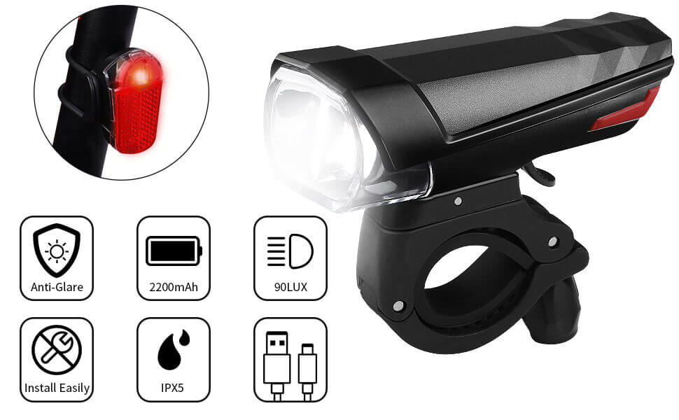 Waterproof Cycle Lights Safety for Night