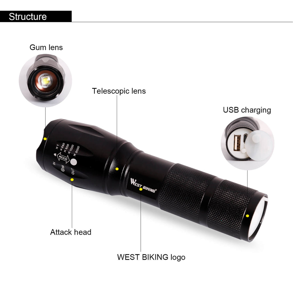 bicycle light led torch
