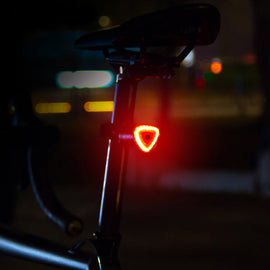 Smart Bike Tail  LED Light, Rechargeable Auto On/Off - WEST BIKING