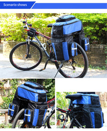 3 In 1 Bike Pannier Bag with Rainproof Cover - WEST BIKING