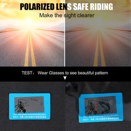 Photochromic Polarized Cycling Glasses UV400 Sunglasses - WEST BIKING