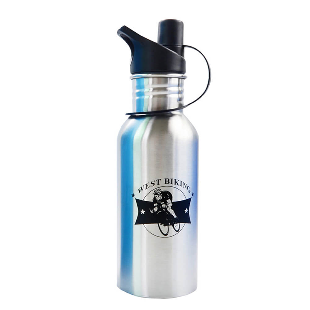 Water Bottle 600ML Capacity Stainless Steel - WEST BIKING