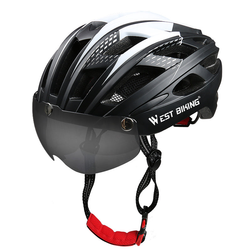 Bike Helmet with Goggles - WEST BIKING