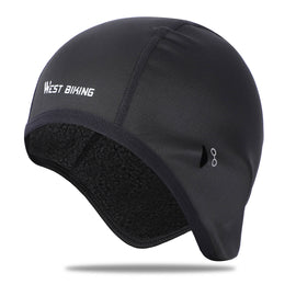 Skull Cap Beanie Helmet Liner with Ear Covers - WEST BIKING