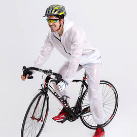 Waterproof & Windproof Cycling Jersey Raincoat - WEST BIKING