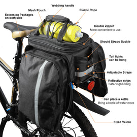 Bike Pannier Bag with Large Capacity 10 - 25L - WEST BIKING