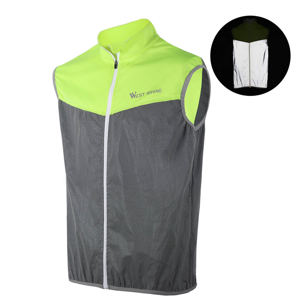 Cycling Reflective Safety Vest, Sleeveless Breathable - WEST BIKING