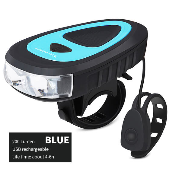 Bicycle Headlight with Bell, 120db Electric Horn - WEST BIKING