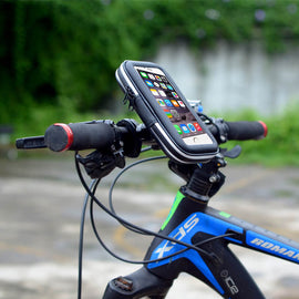 "Touch Screen Bike Handlebar Bag for Below 6"" Cell Phone - WEST BIKING"