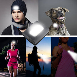 Clip On LED Safety Light for Night Running Dog Walking - WEST BIKING