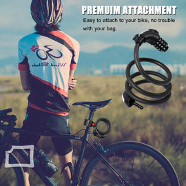 Bike Lock with Light, 4 Digital Safety - WEST BIKING