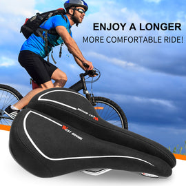 Gel Bike Seat with Taillight - WEST BIKING