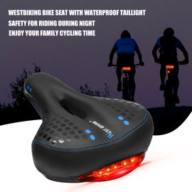 Gel Bike Seat with Tail Light - WEST BIKING